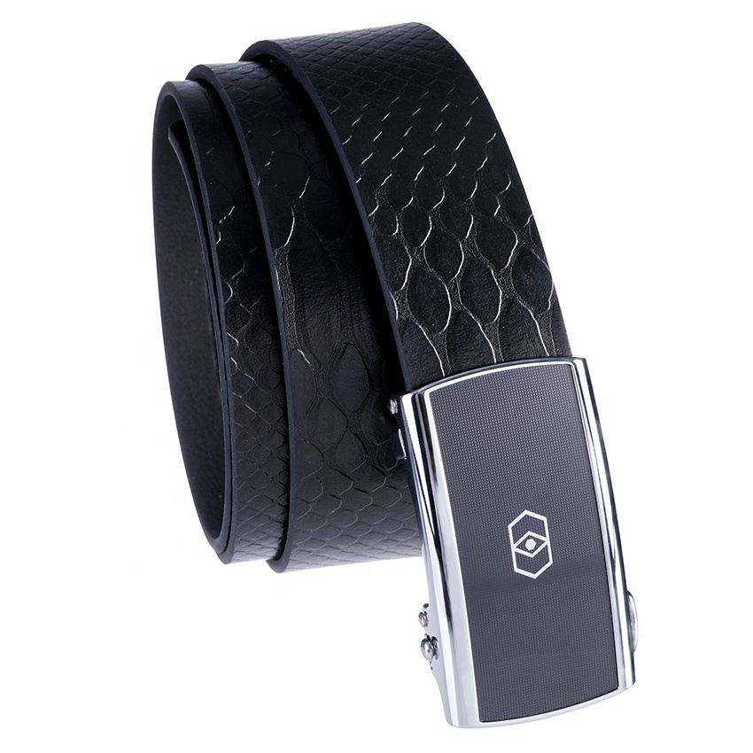 Environmental Friendly Black No Hole 105 cm and 130cm Non Genuine Leather Ratchet Belt for men 2020