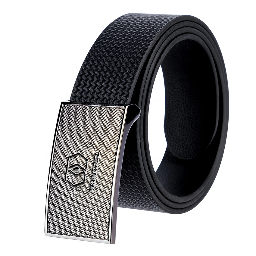 First Class Custom Fashion Textures 2019 Black Faux Leather Belts for men